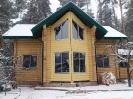 Дом из профилированного бревна в Калининском р-оне Тверской обл.  :: Дом из профилированного бревна диаметром 240 мм