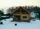 Дом из оцилиндрованного бревна в Чехове