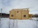 Дом из профилированного бревна в Московской обл. :: Дом из профилированного бревна диаметром 240 мм