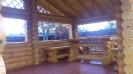 Беседка из оцилиндрованного бревна в Тверской обл. :: Беседка из оцилиндрованного бревна диаметром 200 мм.