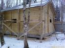Баня из оцилиндрованного бревна в Московской обл. :: Баня из оцилиндрованного бревна в Московской обл.