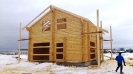 Дом из профилированного бревна в Твери :: Дом из профилированного бревна диаметром 220 мм