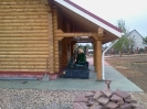 Баня из профилированного бревна диаметром 240 мм.